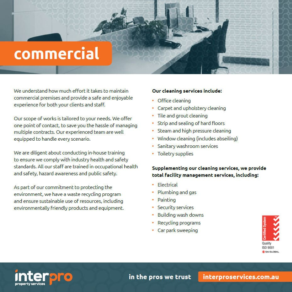 Interpro Commercial Cleaners Services